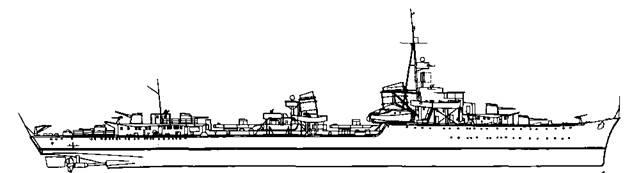 """Эскадренный миноносец """"Z-20"""", 1940 г."""