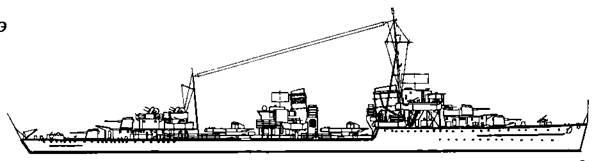 """Эскадренный миноносец """"Z-10"""", 1945 г."""