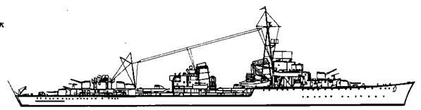 """Эскадренный миноносец """"Z-4"""", 1945 г."""