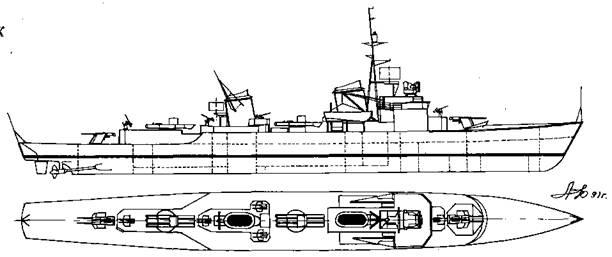 "Корабль проекта ""Флотский миноносец 1944"""