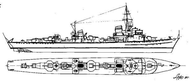 "Корабль проекта ""Флотский <a href='https://arsenal-info.ru/b/book/1444485819/46' target='_self'>миноносец</a> 1939"""