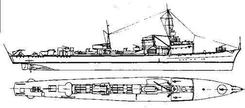 """Корабль проекта """"Миноносец 1937"""""""