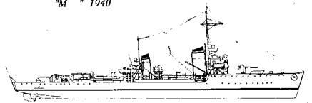 "Миноносец ""Меве "", 1940 г."