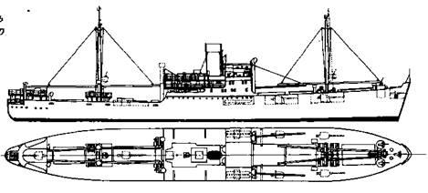 """Вспомогательный крейсер-рейдер """"Комет"""""""