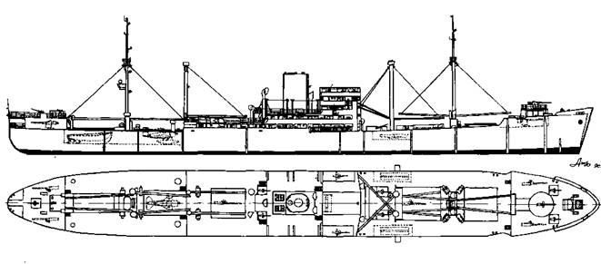 """Вспомогательный крейсер-рейдер """"Корморан"""""""