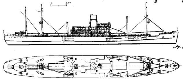"""Вспомогательный крейсер-рейдер """"Ганза"""""""