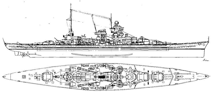 """Линейный крейсер """"Шарнхорст"""", 1942 г."""