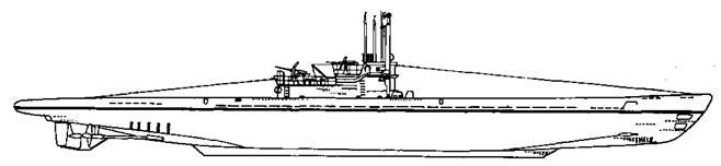 Подводная лодка IX С/40 серии, 1944 г.