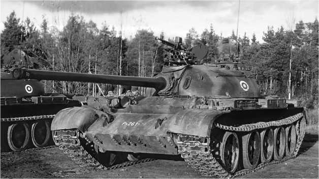 Средний танк Т-54-3 финской армии.