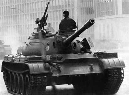 Танк Т-54А Национальной народной армии ГДР.