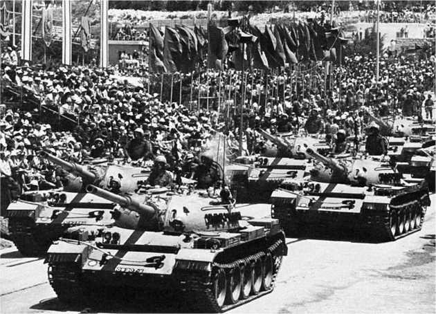 Танки «Тиран-4Ш» на параде в Тель-Авиве незадолго до войны 1973 года.