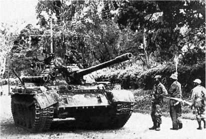 Танк Т-55 армии Уганды, захваченный танзанийскими войсками во время конфликта 1978 года.