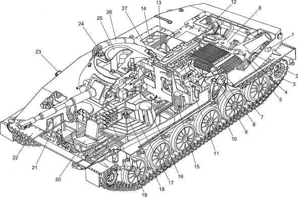 Компоновка танка ПТ-76: