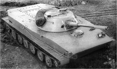 Танк ПТ-76 выпуска 1954 года.