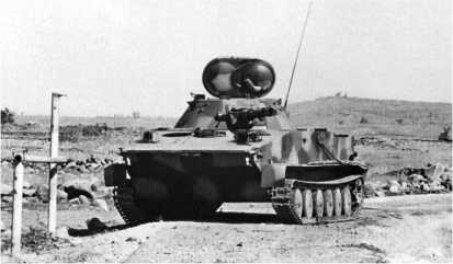 Сирийский ПТ-76Б, подбитый на Голанских высотах. 1973 год.