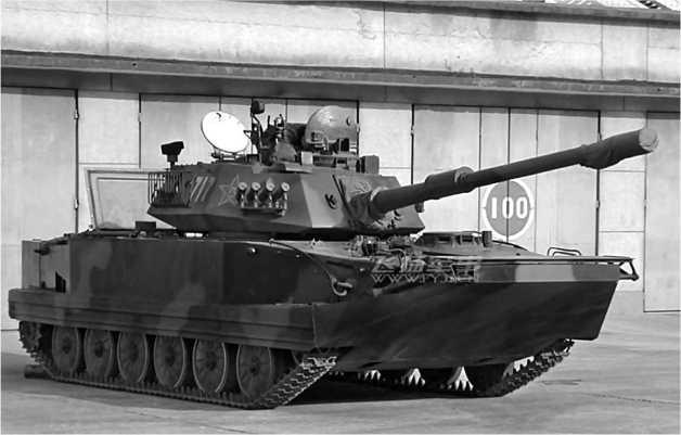Легкий плавающий танк Туре 63А. Несмотря на новые башню и вооружение, в корпусе танка легко узнается ПТ-76.