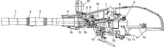 Установка пушки У5-ТС: