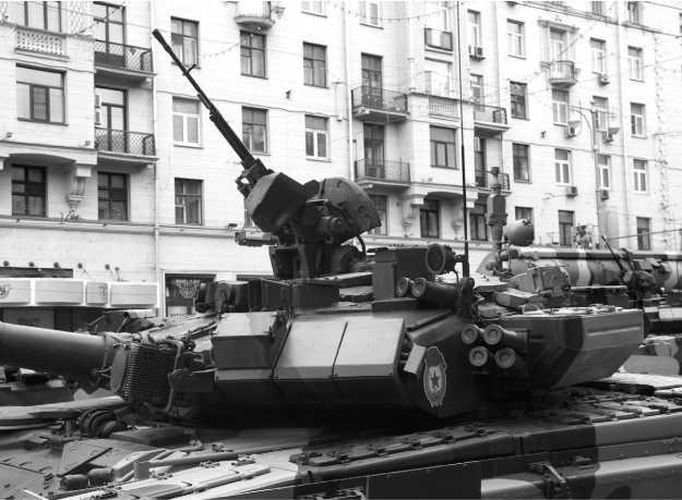 Башня танка Т-90А крупным планом.