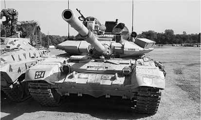 Основной боевой танк Т-90C «Бишма» индийской армии.