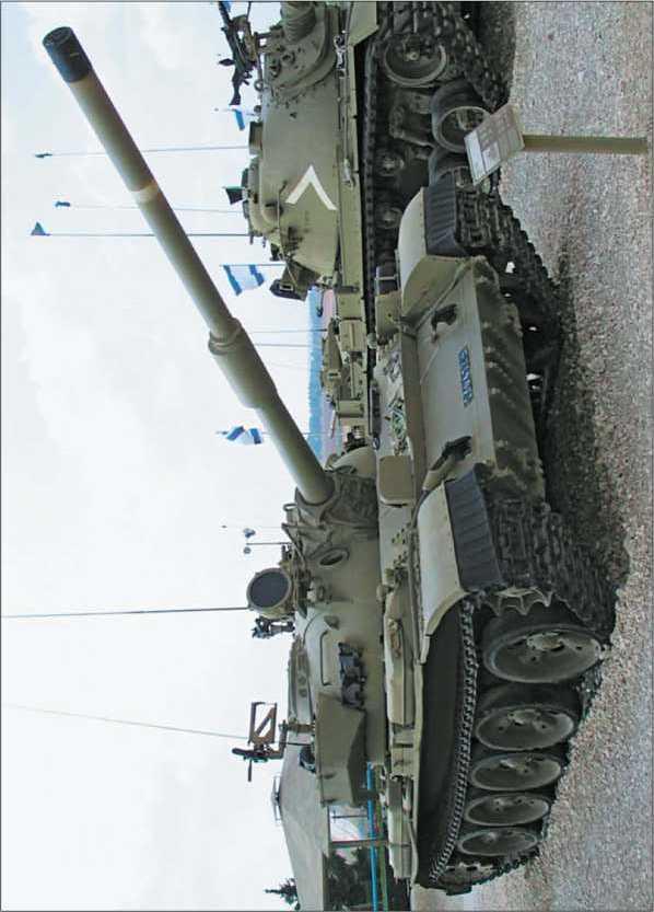 Средний танк «Тиран-5» в экспозиции Музея танковых войск Армии обороны Израиля в Латруне.