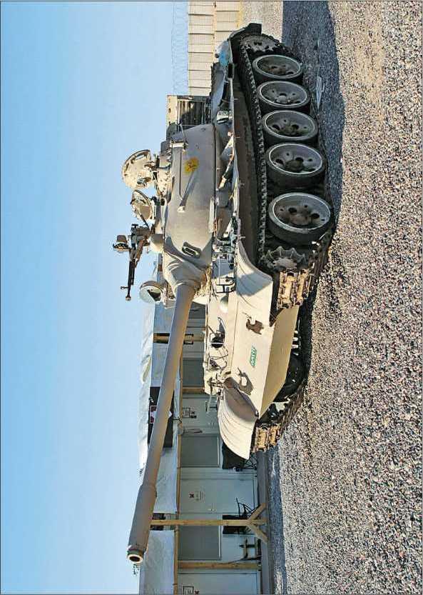 Танк Т-55 иракской армии, захваченный американскими войсками.
