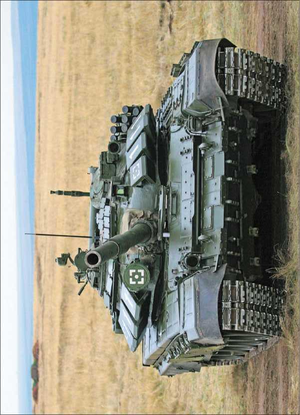 Основной танк Т-72БА во время учений Приволжско-Уральского военного округа, 2008 год.