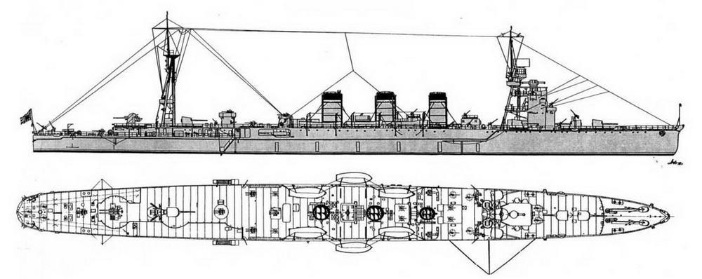 """ЛКР """"Абукума"""" (на 1944 г)."""
