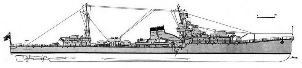 """ЛКР """"Юбари"""" (на март 1944 г.)."""