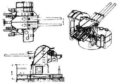 12.7-СМ/40 орудие тип 89 в установке А1