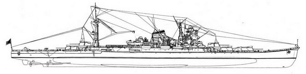 """ТКР """"Ибуки"""" (рекострукция по материалам журнала """"Ships of the world"""")."""