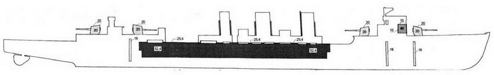 Схема бронирования ЛКР типа Тенрю