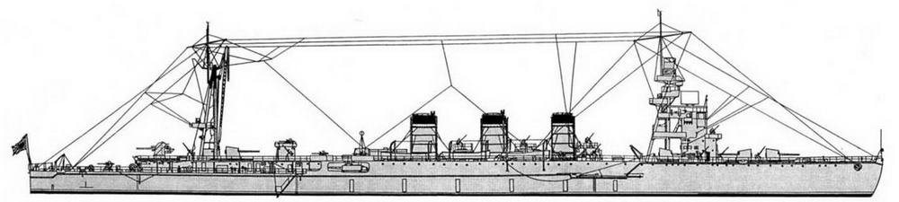"""ЛКР """"Нагара"""" (на июль 1944 г)."""