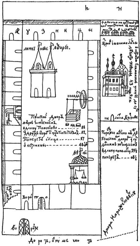 Московский Пушечный двор. По плану XVIIв.