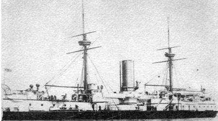 """Броненосцы """"Дредноут"""" (вверху) и """"Аякс"""". Оба эти корабля предлагались в качестве прототипов при проектировании черноморских кораблей."""
