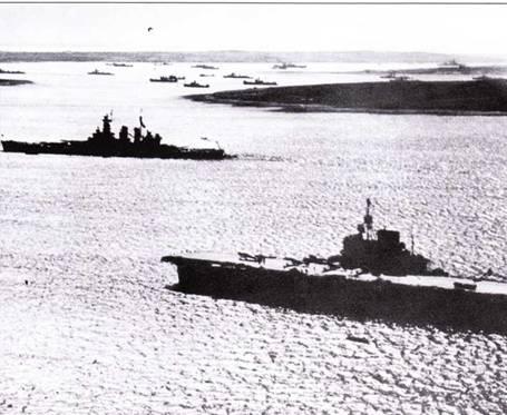 Боевое крещение скоростные линкоры приняли в Атлантике, когда «Вашингтон» весной 1942г. В течение короткого времени оперировал в составе Королевских ВМС Великобритании. «Вашингтон» покинул якорную стоянку в Скапа-Флоу вместе с авианосцем «Викториес» после участия в проводке двух северных конвоев и ушел на Тихий океан.