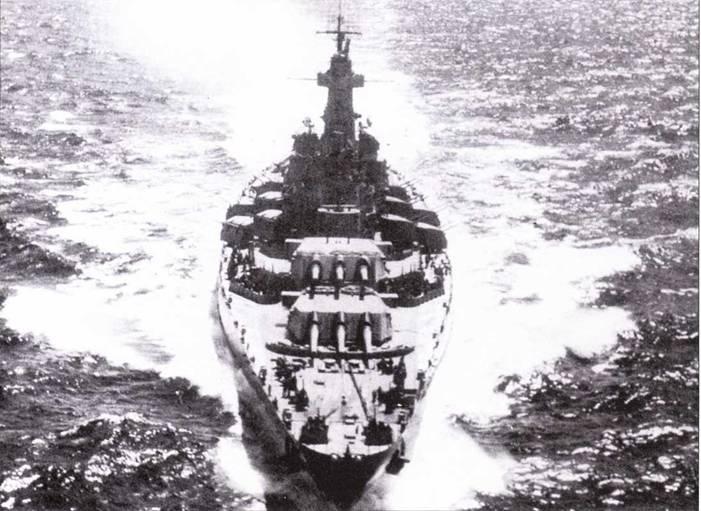 В июне 1942г., когда «Северная Каролина» вступила в войну, она уже была оборудована РЛС управления огнем FD.