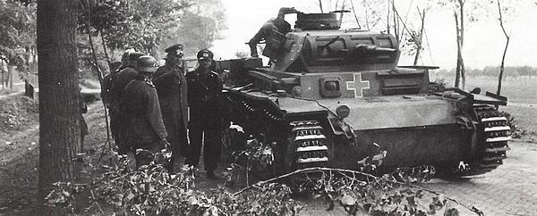 Командирский танк Pz.Bf.Wg.III Ausf.D1. Польша, сентябрь 1939 года.