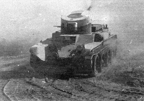 Пулемётный БТ-2. Киевские манёвры. 1935 год.