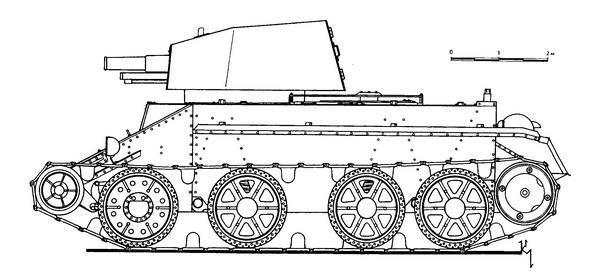 БТ-2 с 76-мм пушкой.