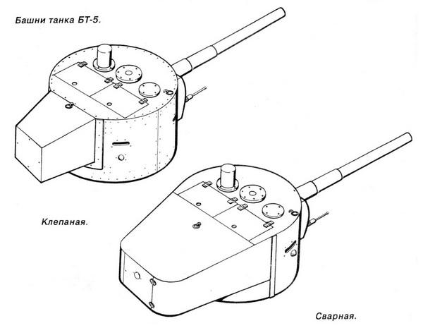 Башни танка БТ-5.