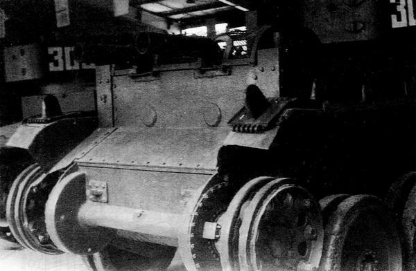 Модернизированный БТ-5 с демонтированным глушителем.