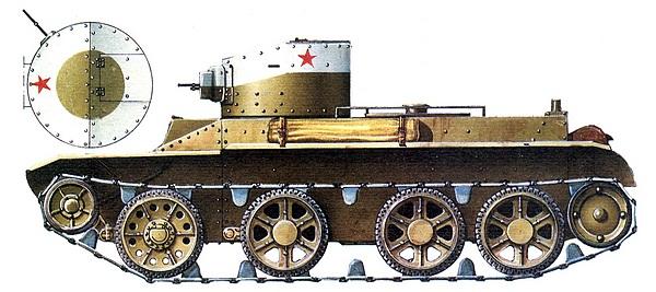 БТ-2 с пулемётным вооружением. Киевские манёвры, 1935 год.