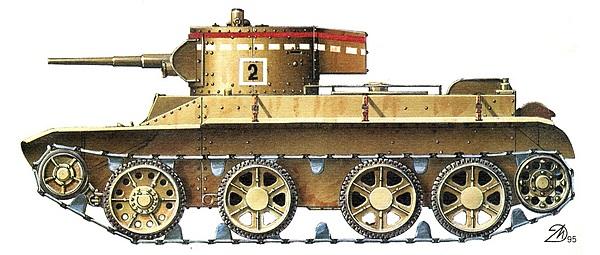 БТ-5 первых выпусков в стандартной маркировке 30-х годов.