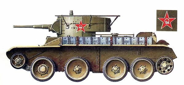 БТ-5 с радиостанцией. 5-й <a href='https://arsenal-info.ru/b/book/3485638671/9' target='_self'>механизированный корпус</a> имени К.Б.Калиновского, 1935 год.