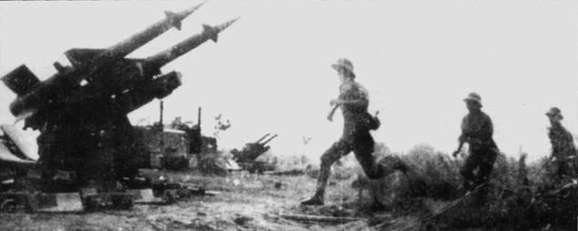 Огневая позиция дивизиона ЗРК С-125 «Нева». Данные комплексы прикрывали вьетнамские аэродромы, начиная с 1972г.