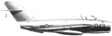 2.Shenyang J-5 (МиГ-17) «1043»из 921 — го истребительного авиационного полка «Sao Dao», 1966г.