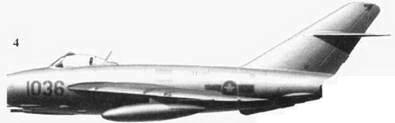 4.Shenyang J-5 (МиГ-17) «1036» Ле Минь Хуана, 921 — й истребительный авиационный полка «Sao Dao», апрель 1965г.