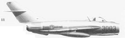 11.Shenyang J-5 (МиГ-17Ф) «3003» Тран Ханя, 921-й истребительный авиационный полк «Sao Dao», 6 ноября 1965г.