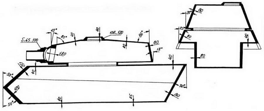 Схема бронирования тяжелого танка «Королевский тигр»