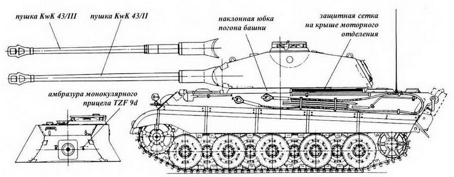 Серийный танк с башней Порше